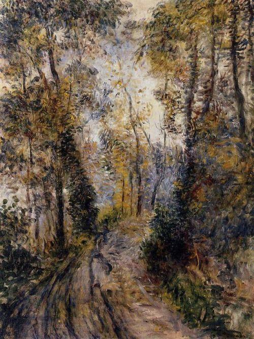 artist-renoir: The Path through the Forest via Pierre-Auguste...