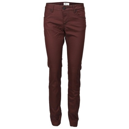 PULZ BUKSER - P92870A JAMEE SKINNY PANT RED EARTH