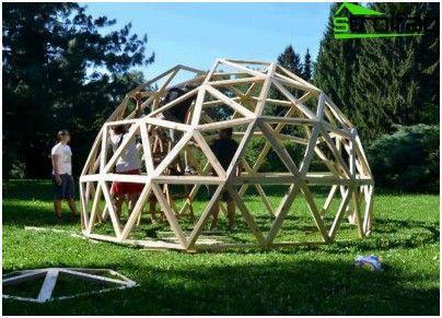 Hvordan til at beregne og opbygge en geodætiske kuppel
