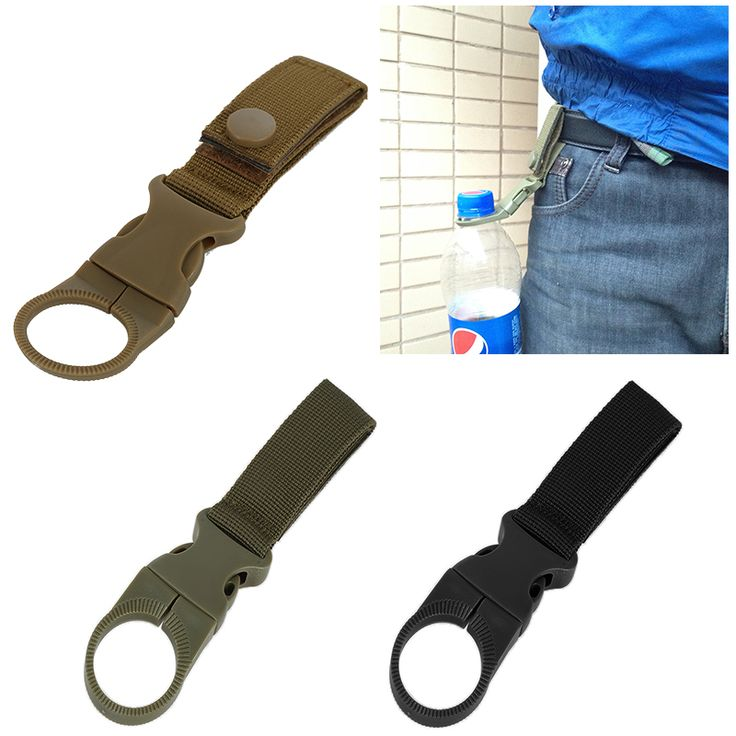 New Outdoor Camping Hiking Tactical Multifunction Nylon Webbing Carabiner Buckle Bottle Hanging Bottles Strap Belt Clip EDC Tool