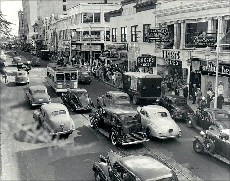 1940s Street Miami Beach And The Florida Keys