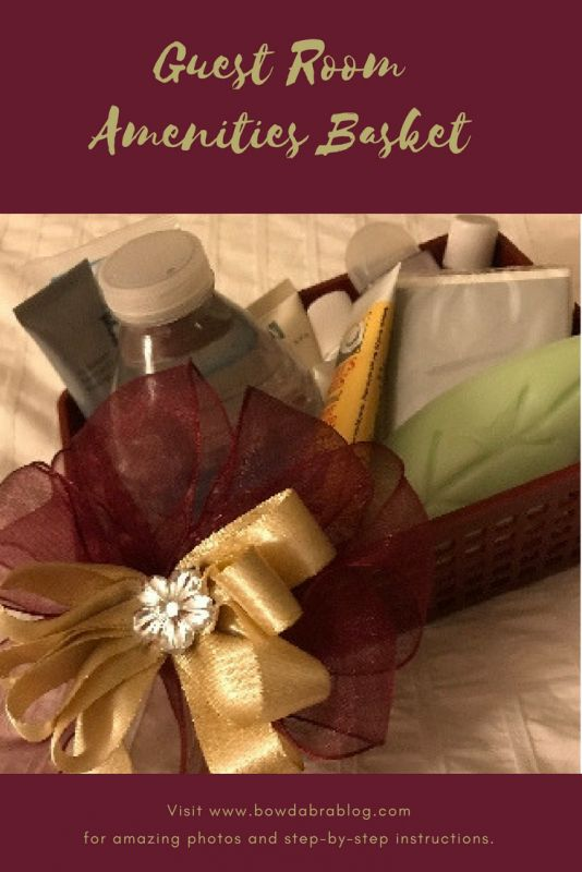 How To: Guest Room Basket Decorated with a Special Bow