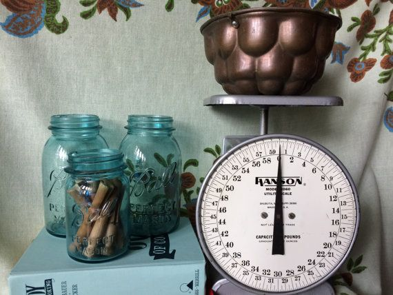 Antique Hanson Midcentury kitchen scale by BankandBleeker on Etsy