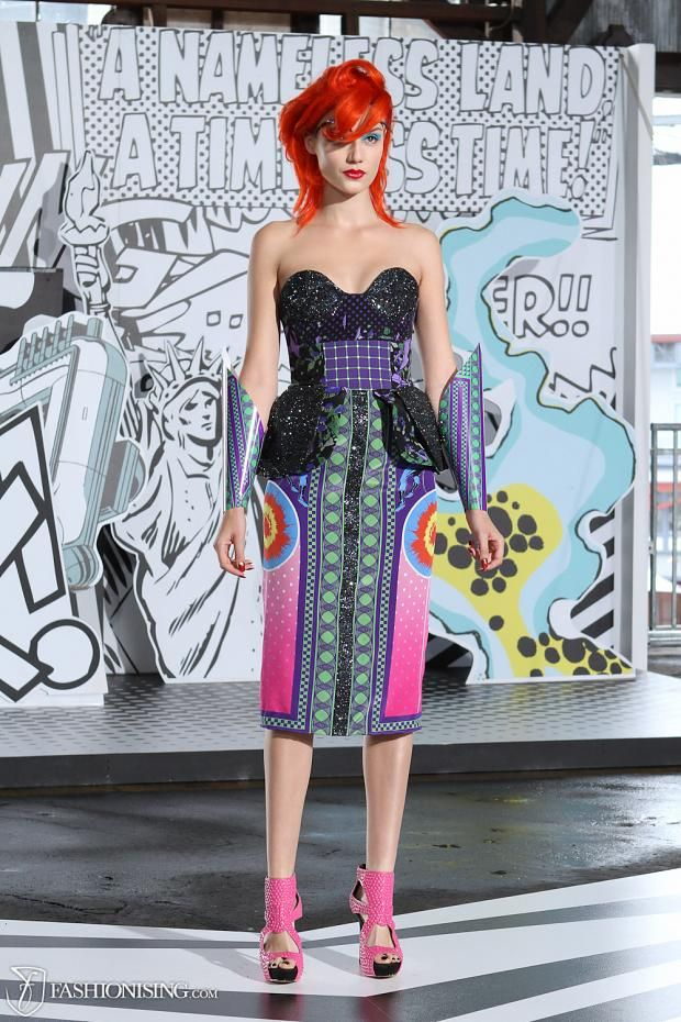 Marvel's Avengers-inspired fashion. Roman was Born Australian fashion label. Colourful and quirky fashion.