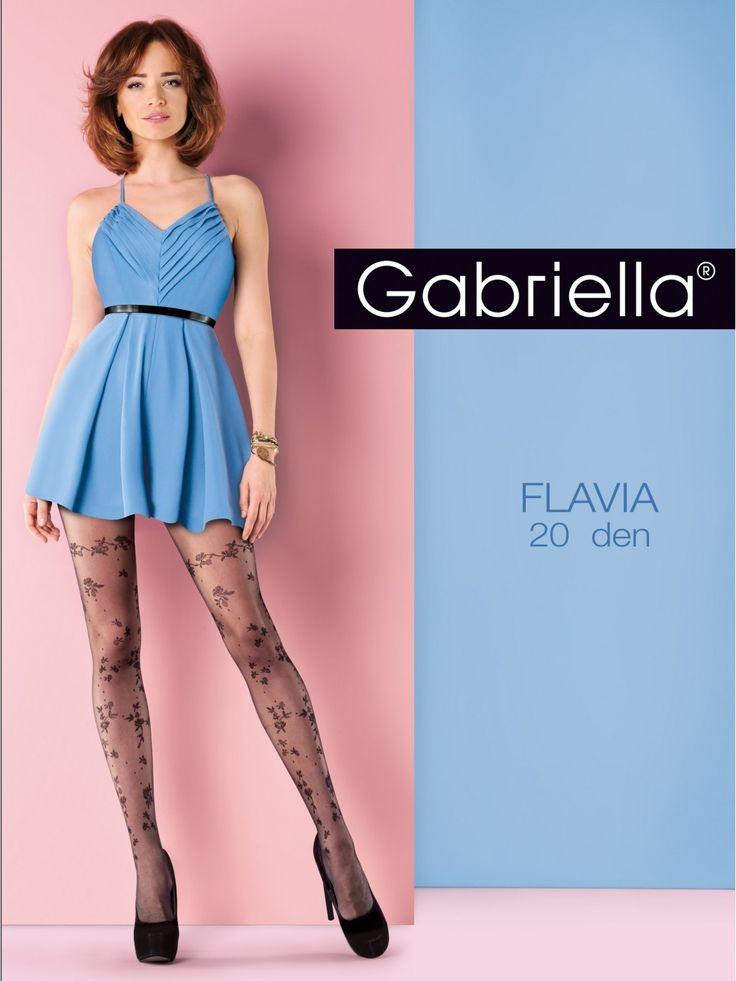 Gabriella Flavia 20 denové vzorované pančuchy
