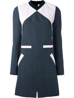 colour block tweed shift dress Courrèges