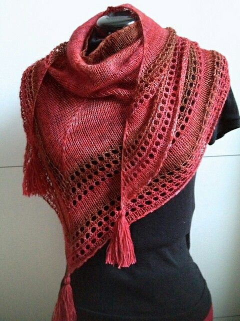 Knitting Shawl Patterns Free : Best images about knitted scarves cowls shawls on