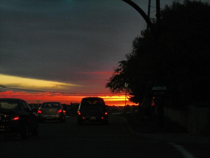 Sunrise over 40th Ave NE  Calgary, AB