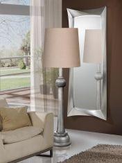 Lampade da terra in legno : Modello LIDA plata