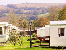 caravans for hire at Meadow Lakes, Cornwall