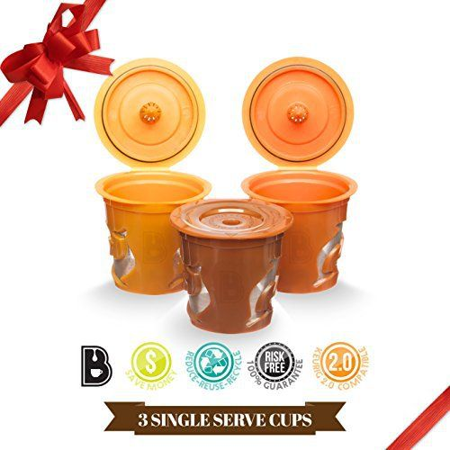 Brewooze Reusable K-cups - refillable k cup compatible with keurig 1.0 and 2.0 brewers - http://teacoffeestore.com/brewooze-reusable-k-cups-refillable-k-cup-compatible-with-keurig-1-0-and-2-0-brewers/