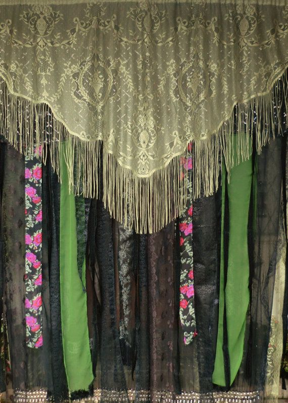 SISTER of the MOON  Handmade Gypsy Curtain by BabylonSisters