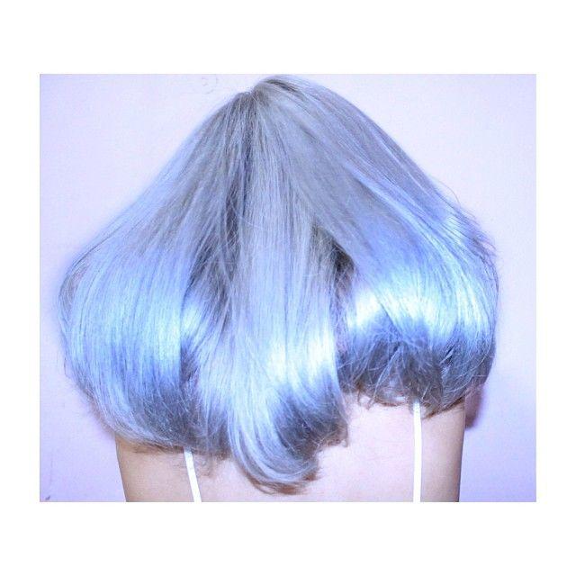 Shinny blue hair