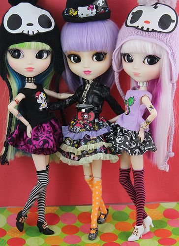 groove pullip tokidoki x hello kitty dolls