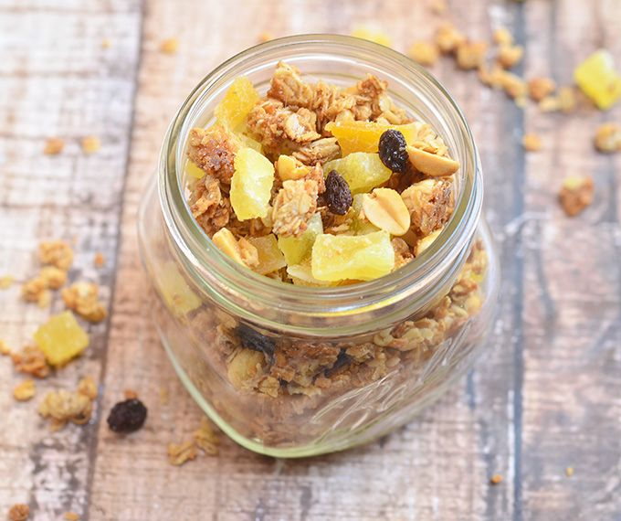 Granola clusters, Granola and Tropical on Pinterest