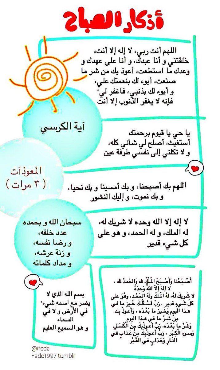 من اذكار الصباح Good Morning Quotes Morning Quotes Images Islamic Quotes