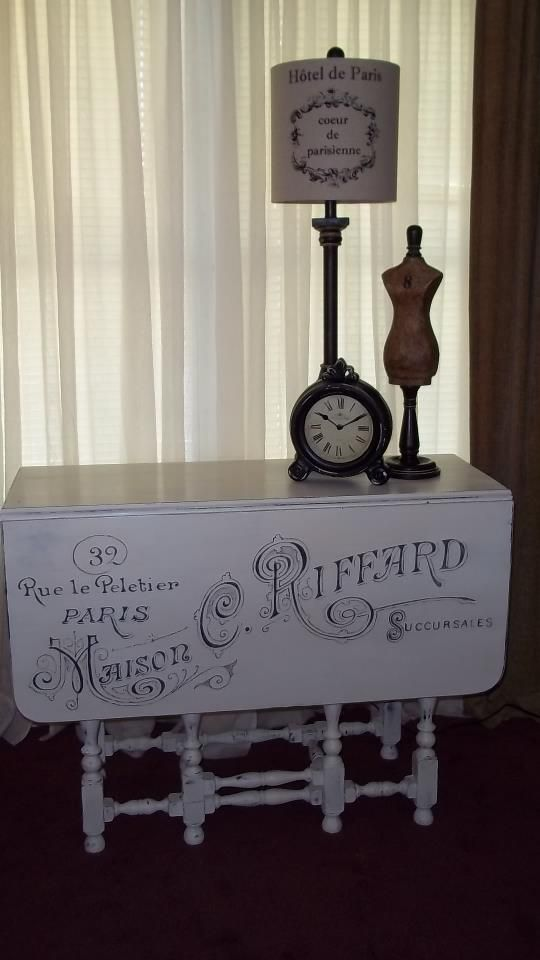 Katjuls Vintage and Re-purposed Furniture...ive been looking for an idea for a table just like this!