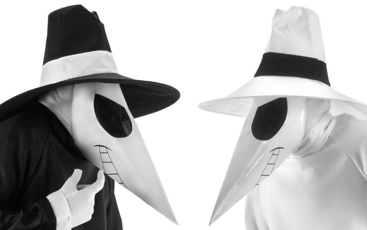 Spy vs Spy Hat Mask Accessory Costume Kit Black or White | eBay