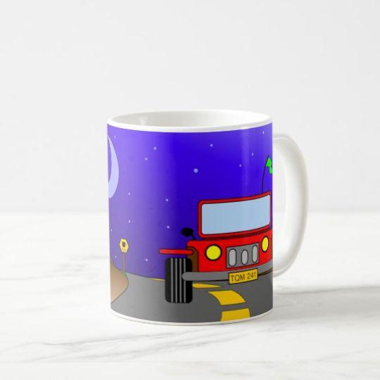 My Car Jeep and The Cactus, Funny Cute Coffee Mug design, Bonita taza de café de 11oz. #tazasdecafe #bonita #mugs #coffee