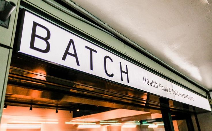 Batch LDN: a new juice and healthy snacks stop located in London's Old Street Underground station.   Old Street London Underground Station in London, Greater London