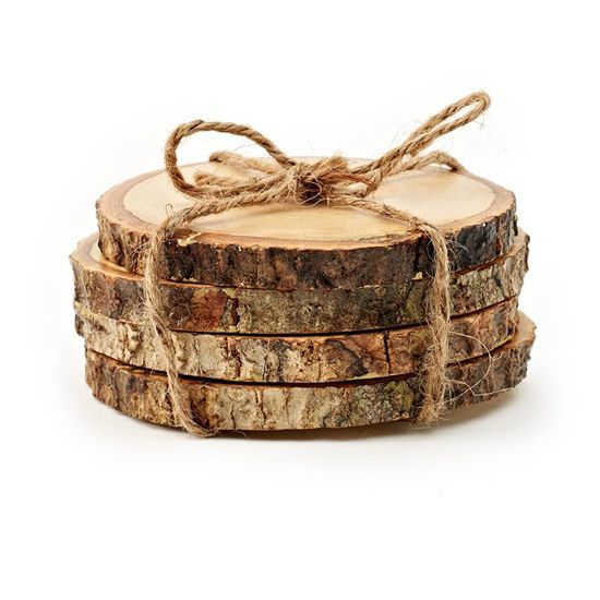 Tree trunk coasters diy project.