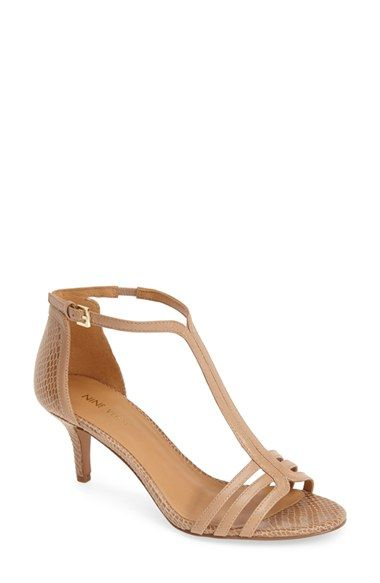 Nine West 'Go Home' Kitten Heel T-Strap Leather Pump at Nordstrom.com