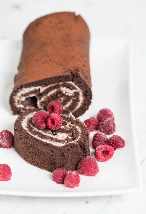 Roulé suisse aux truffes au chocolat