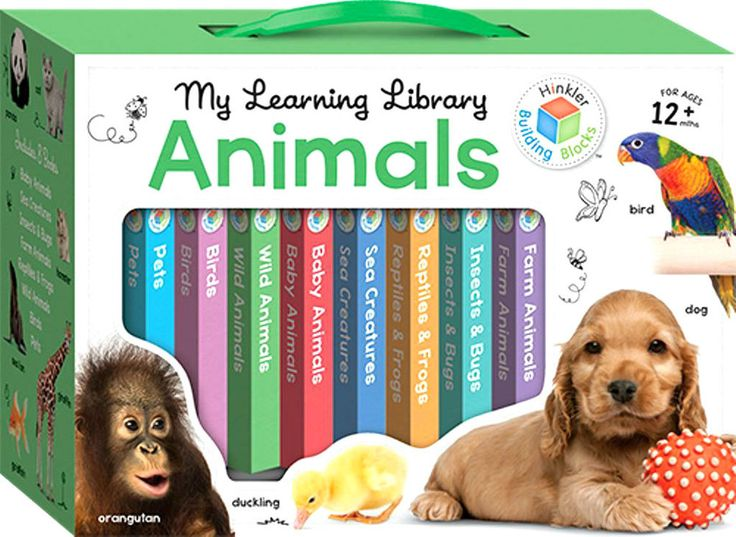 My Learning Library Animals Hinkler Building Blocks Christmas Gift NEW FREE POST