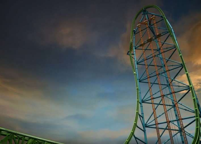 """Theme Park Rides That Are Utterly Terrifying and Utterly Awesome - Answers.com           ~~~~~ """"Zumanjaro""""- 6 Flags NJ, takes u to 416 feet, lets you sit for 6 secs...and DROPS you."""