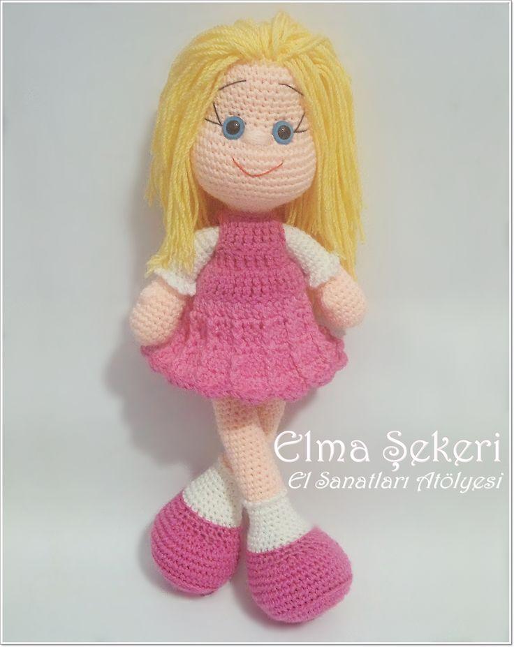 Elma Şekeri El Sanatları Atölyesi - Amigurumi Bebekler ve Örgü Modelleri: Amigurumi Şirin Bebek / Amigurumi Doll