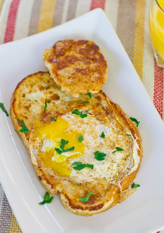 French Toasted Egg In a Hole - easy and fun breakfast.