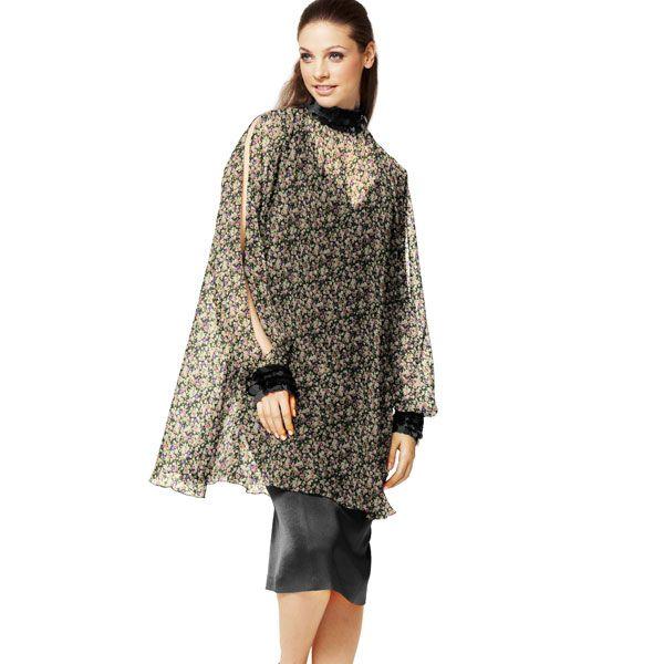 Georgette Fiori – mix di colori - Tessuti per bluse ed abiti- tessuti.com