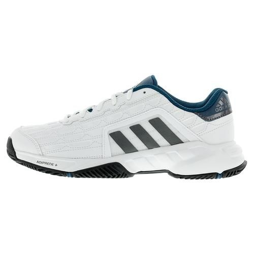 adidas Men`s Barricade Court 2 Wide Tennis Shoes White and Black