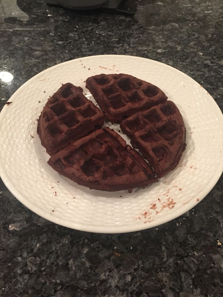 Brownie Waffles! Belgium waffle maker+Ghirardelli triple chocolate brownie mix+ingredients called for on package+extra egg=. Soooooo good!!