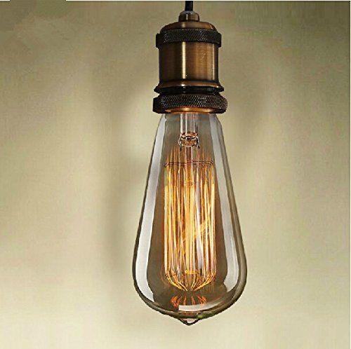 Portalampada vintage ottone e27 luci pendenti lampada for Portalampada ikea