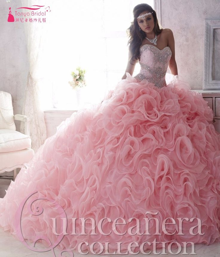 Find More Quinceanera Dresses Information about Luxury Beaded Lace Sweetheart…