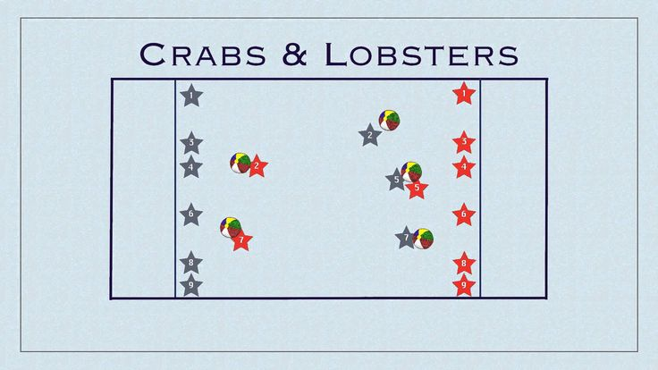 Physical Education Games - Crabs & Lobsters