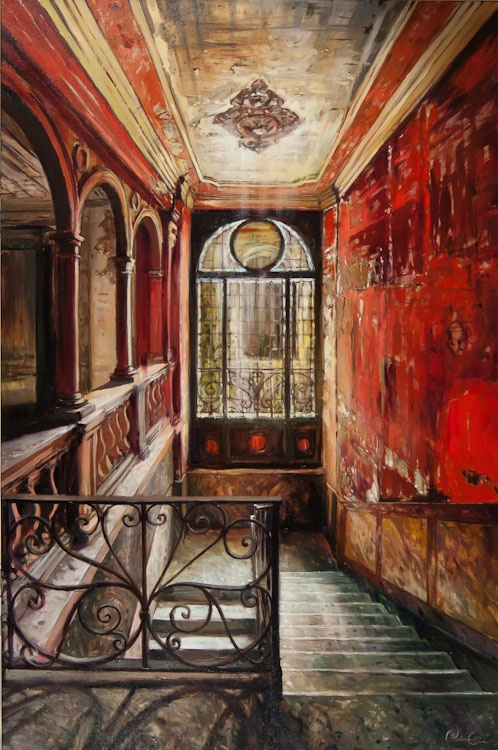 "Pierre Giroux ""Grand Hall"" $2,900"