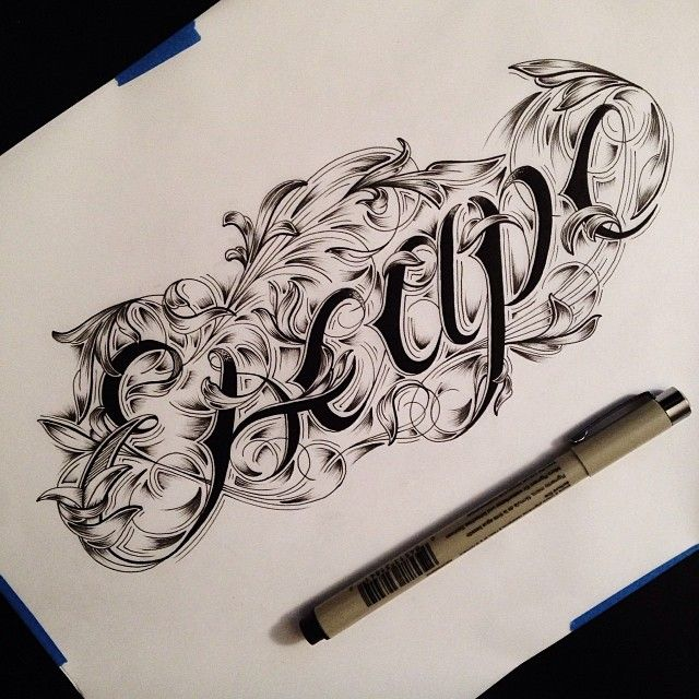 51 best images about lettering and filigree on pinterest for Letter tattoos on hand
