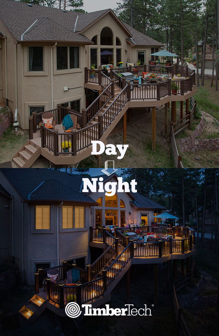 9 best timbertech spring images on pinterest outdoor rooms house your timbertech deck can look stunning day or night aloadofball Gallery