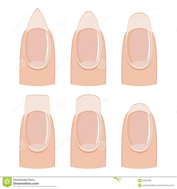 nail-shapes-manicure-shape-white-background-30936398