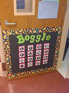 Boggle- This is by far the most popular in my room.  I got this amazing activity from Create-Teach-Share and my kids go bananas for it.  I just change the letters weekly to reflect our spelling pattern focus and they go on a word making frenzy.  LOVE it!