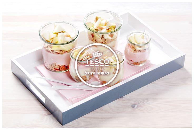Puding s cereáliemi a ovocem – svačina do školy  http://www.tescorecepty.cz/recepty/detail/73-puding-s-cerealiemi-a-ovocem-svacina-do-skoly