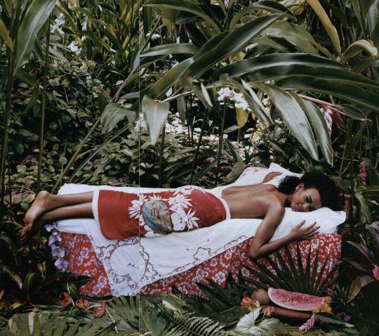 liya kebede for vogue june 2003