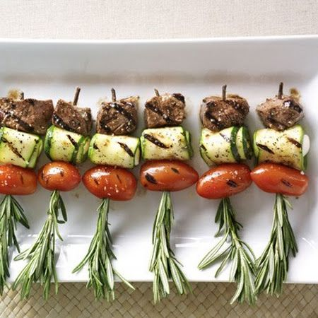 Sometimes the smallest items are the most satisfying - Mediterranean Lamb Skewers with Rosemary.