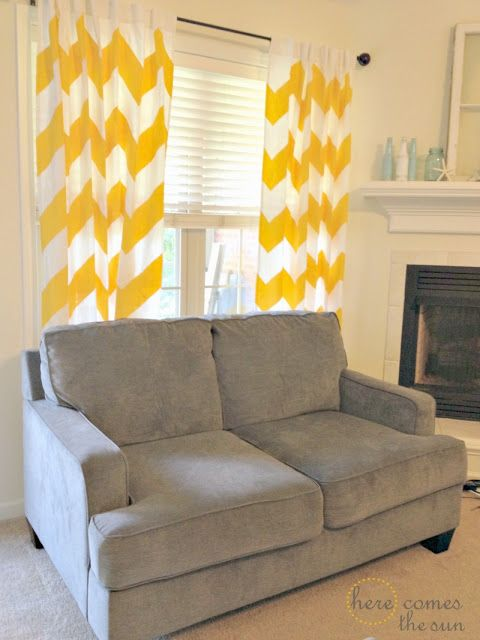 Add #color to your #apartment with colorful #curtains!