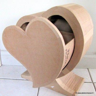 tout en carton un beau coeur