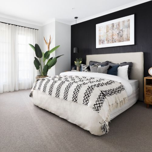 How To Style A Bed With Cushions Tips From An Interior Designer In 2020 Feature Wall Bedroom Bedroom Makeover Master Bedrooms Decor