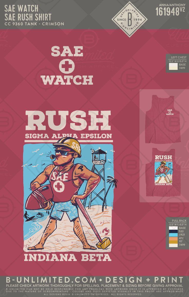 SAE Rush shirt! #BUonYOU #greek #greektshirts #greekshirts #fraternity #SigmaAlphaEpsilon #Rush #beach #indianabeta