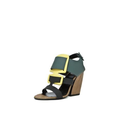 Pierre Hardy Sandal in Green,Yellow,Brown,Animal Print http://beso.ly/rd/5078950074?a=561623=1